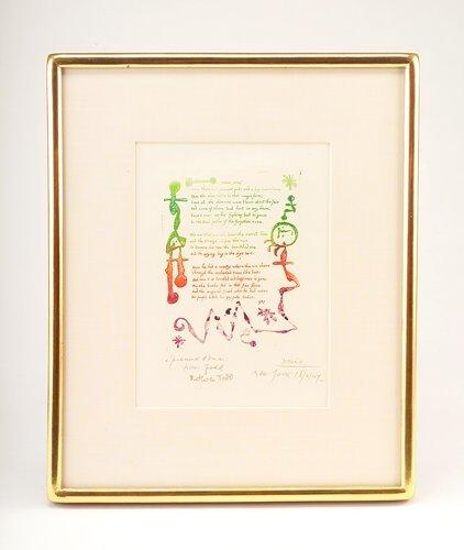 "373: Joan Miro (Spanish, 1893-1983),""Poem"", etching and"