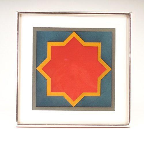 "374: Sol Lewitt (American, b. 1928) ""Star-Red Center -"