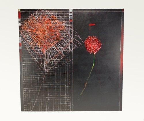 """377: Pat Steir (American, b. 1940), """"Dahlia,"""" 1983, oil"""