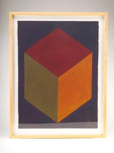 "378: Sol Lewitt (American, b. 1928), ""Cube (Corner),"" g"