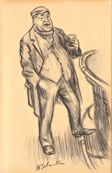 9: William Glackens (American, 1870-1938) Man at Bar, 1
