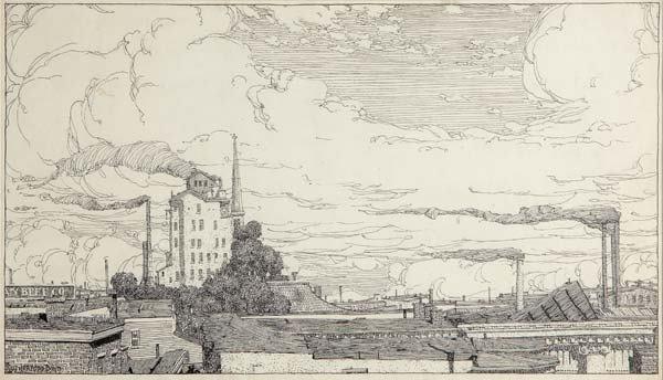 11: John Rutherford Boyd (American, 1884-1951) Rooftops