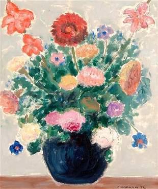 99: Abraham Walkowitz (American, 1878-1965) Untitled; O