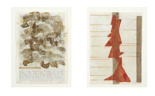 519: Franz Erhard Walter (b. 1939) Two works of art