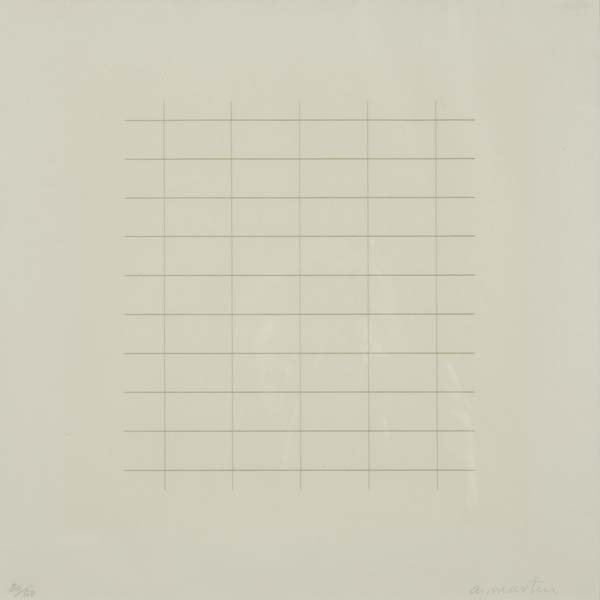 652:  Agnes Martin (American, 1912-2004) On a Clear Day