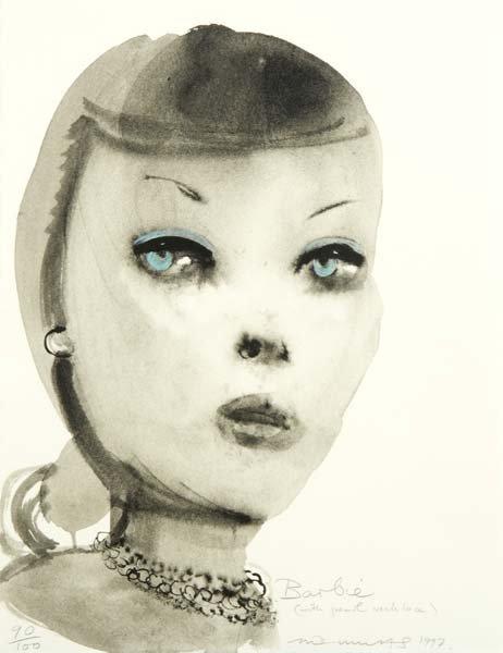 680:  Marlene Dumas (South African, b. 1953) Barbie (Wi