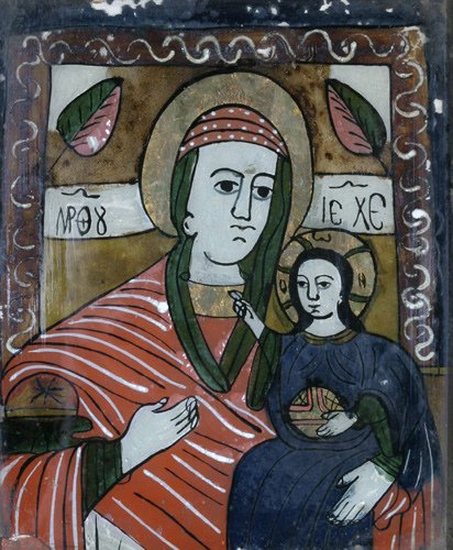 2: Icon (Middle European School): Virgin and Child, rev