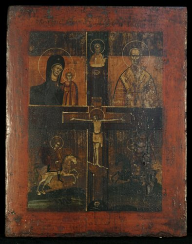 3: Russian Icon, Peasant Craft Icon: Kazanskaya, St. Ni