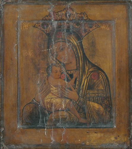 4: Russian Icon: Our Lady of Arabia, mid 17th Century,