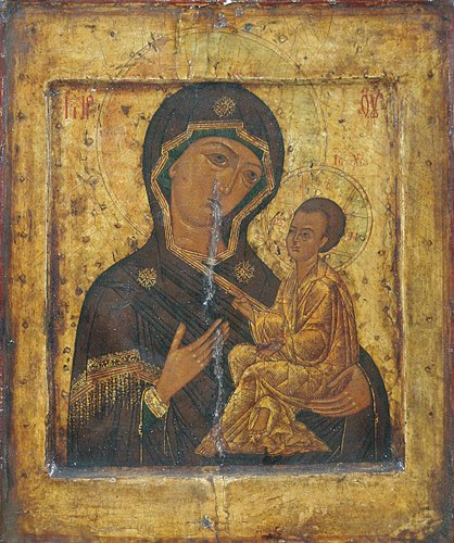 5: Russian Icon: Our Lady of Tikhvin, late 16th Century