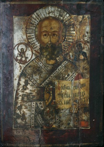 9: Russian Icon: Saint Nicholas of Myra the Wonderworke