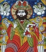 25 Serbian Icon Christ Figure reverse painting on gl