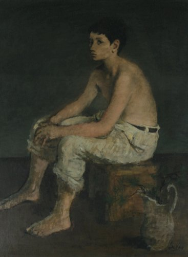 125: Leon Karp, Adolescence, 1944, oil on canvas under