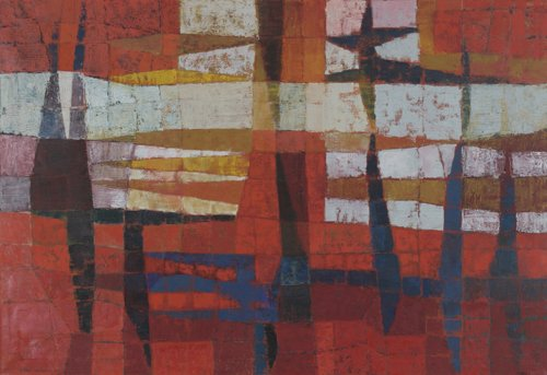 139: George Morrison, Traversal, 1956, oil on canvas; 3