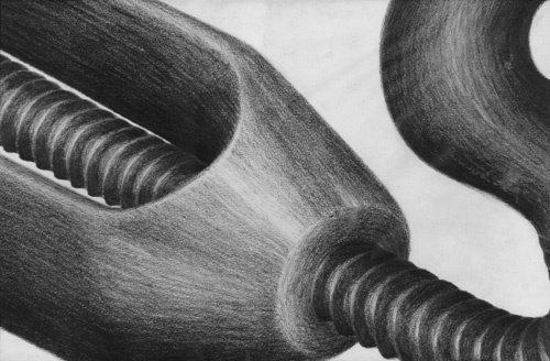423: Lee Lozano, Untitled, 1964, graphite on paper; 8-1