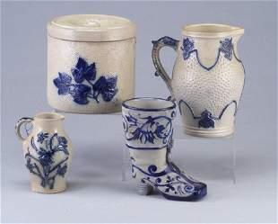 Four Erfurt (German) stoneware pieces inc