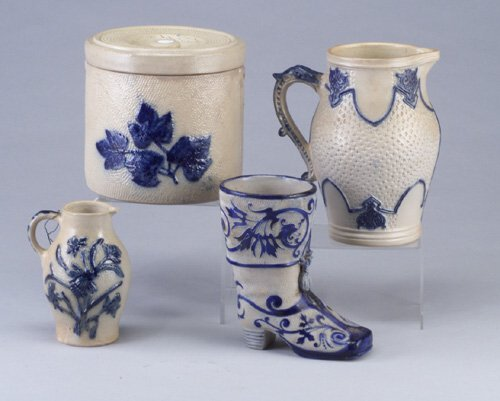 10: Four Erfurt (German) stoneware pieces inc
