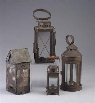 Four metal hanging lanterns - The Stone B