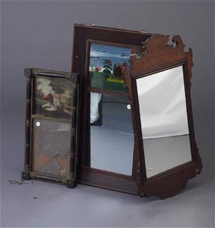 Three antique wall mirrors including two