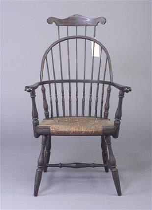 18th century-style rush seat Windsor chai