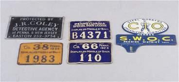 428 Three vintage PA deer license stamped m