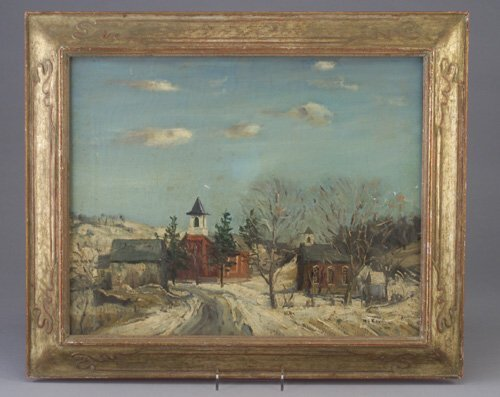 665: WALTER EMERSON BAUM oil on canvas, Villa