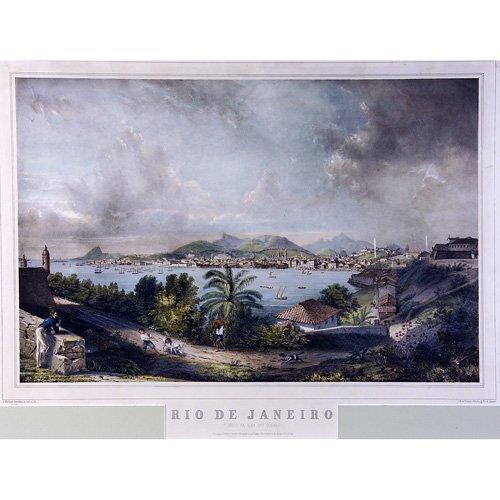 """12: Alfred Martinet """"Vista do Rio de Janeiro,"""" hand-col"""