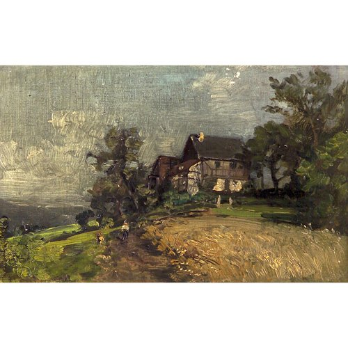 22: American School (late 19th Century) Landscape with