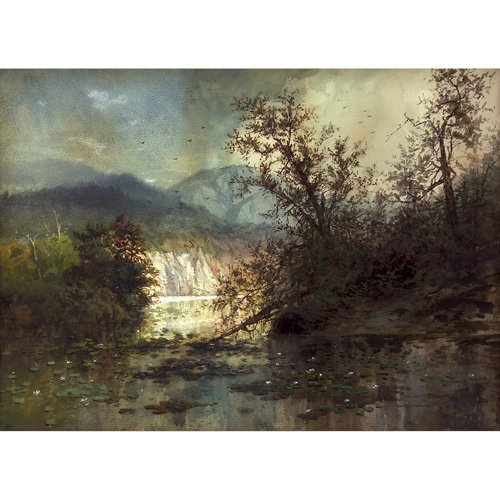 23: Charles Chapin Along the Hudson, watercolor on pape