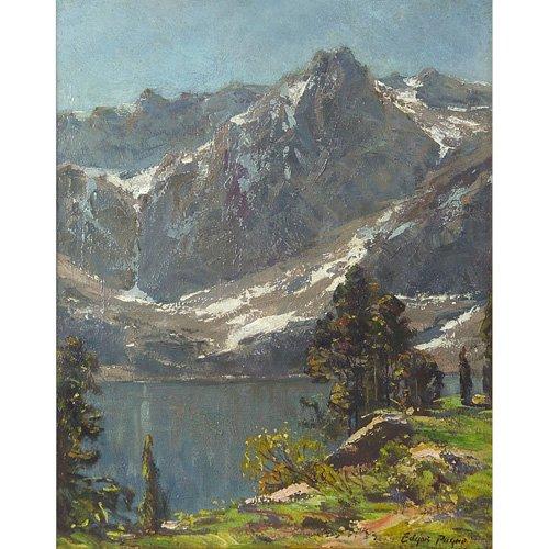 "72: Edgar Alwin Payne ""Sierra Scene"", oil on canvas, 20"