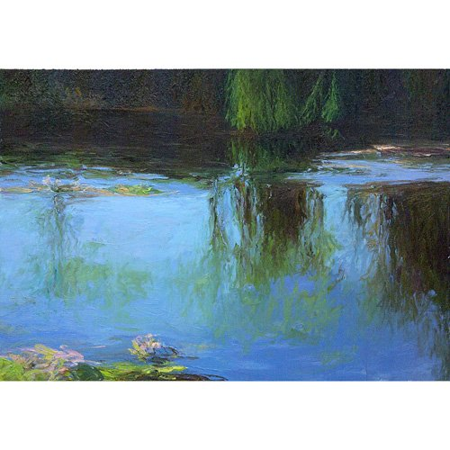220: Diane Burko, Giverny, 1989, oil on canvas, 65 x 92