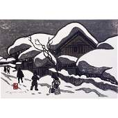 217: Kiyoshi Saito (Japanese, 1907-1992), winter landsc