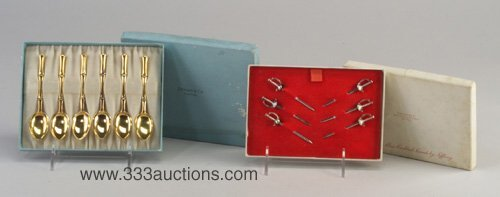 5: Two Tiffany & Co. boxed sets: set of six s
