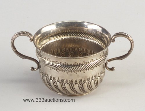 6: Victorian Arts and Crafts silver loving cu