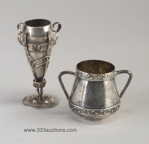 9: Two Arts and Crafts silver items: Liberty