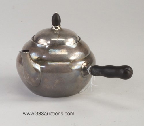 18: Georg Jensen sterling silver hot milk pot