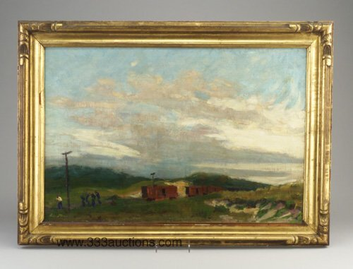280: Oil on canvas signed John Sloan lower le
