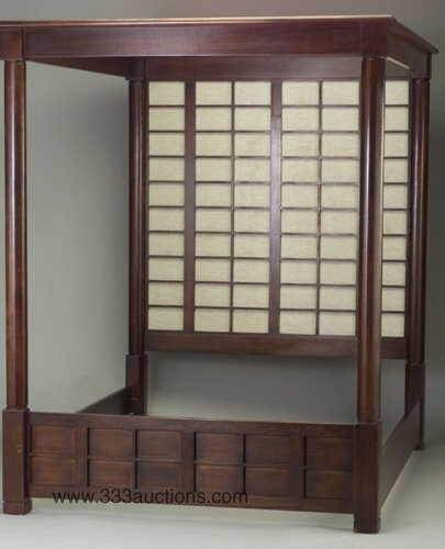 515: Japanese style canopy bed with cylindric