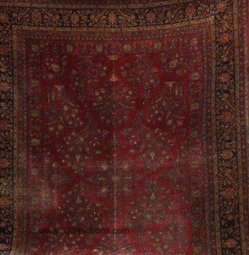 520: Antique Indo-Kashan room-size rug with c