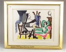Pablo Picasso color lithograph on Arches