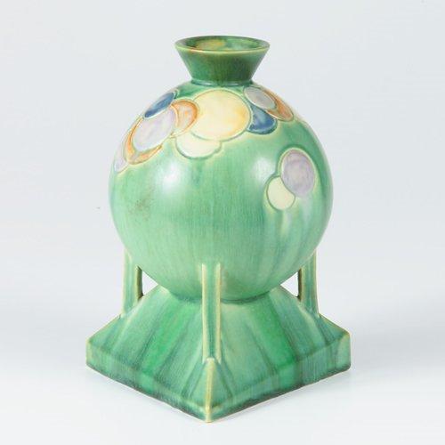 """1012: ROSEVILLE Futura vase, """"Balloon Globe"""" decorated"""