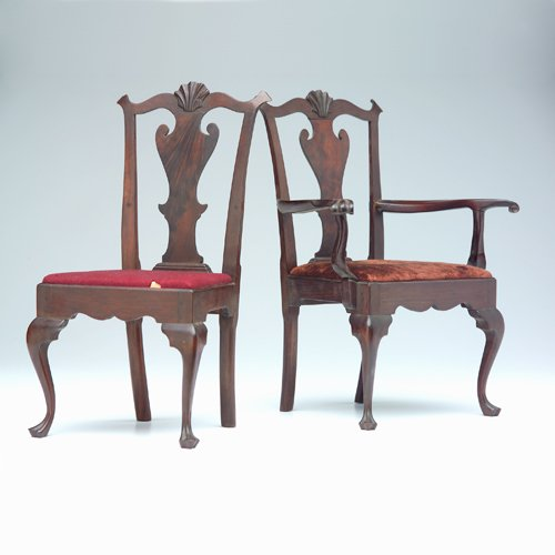 4: Two salesman's sample chairs in the Chippendale styl