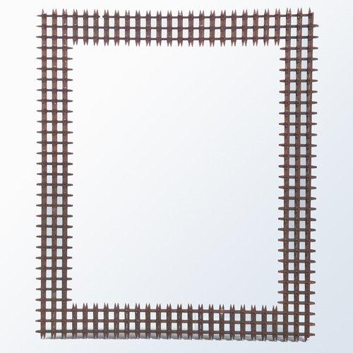 "11: Tramp Art crown of thorns frame. 26 1/2"" x 31 1/2"""