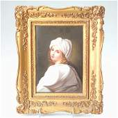 277: Rare K.P.M. plaque after Guido Reni of a young wom