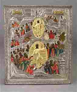 75: Russian icon: Resurrection and Descent in
