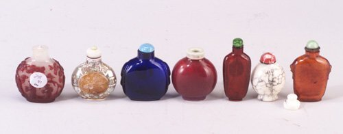 254: Seven assorted Chinese snuff bottles, mo