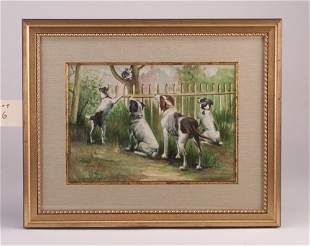"Albert B. Sloer (American, 20th c.) ""Dogs"