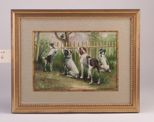 "6: Albert B. Sloer (American, 20th c.) ""Dogs"