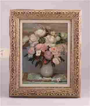 "Al Farias (American, 20th c.) ""Flowers in"