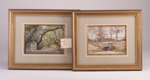 17: Susan Codman two landscapes, watercolor